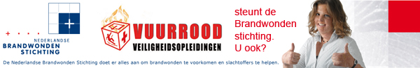 Vuurrood steunt Brandwondenstichting